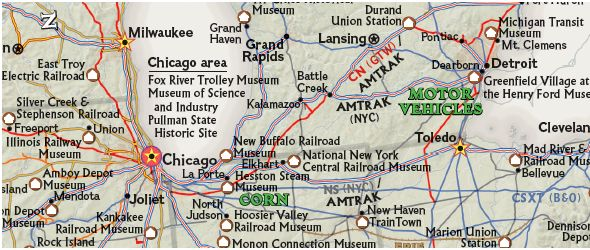 National Geographic Railroad Legacy Map Of The US